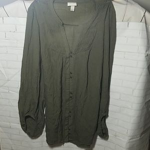 KNOX ROSE BLOUSE LONG  SLEVEE  SIZE LARGE